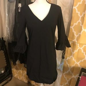 J Crew factory Ruffle tie Sleeve Dress Black 4